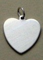 sterling silver heart shaped charm