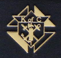 gold on black Knights of Columbus Bible crest