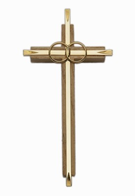 Oak & Gold Catholic Cana Wedding Cross