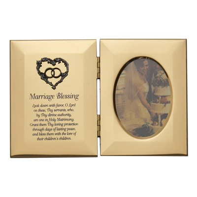 Gold Double Marriage Blessing Photo Frame