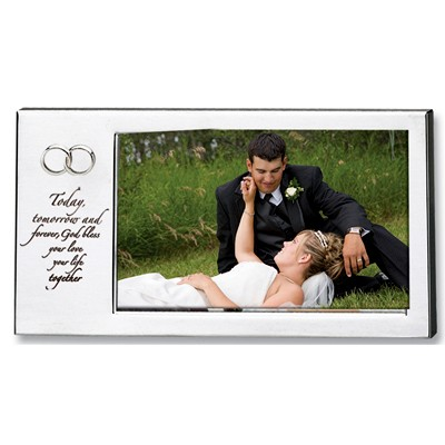 Silver Wedding Photo Frame