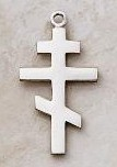 Sterling Silver Orthodox Cross Pendant by Creed