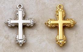 Cross Pendant by Creed in Sterling Silver and 22KT Gold over Silver