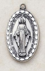 Give Dad this Large Sterling Silver Miraculous Medal for Father's Day - Father Day Gift Idea