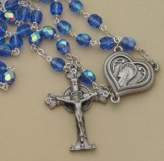 Crystal Bead Lourdes Water Rosary