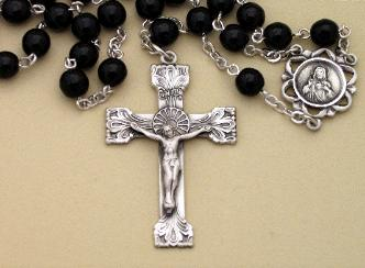 Image of Onyx & Sterling Silver Men's Rosary