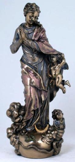 Bronzed Assumption of Our Lady - Virgin Mary Statue