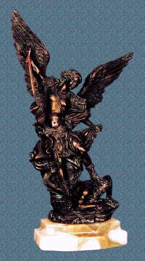 Bronzed Finish St. Michael Statue for sale