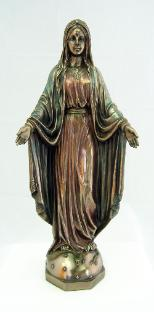 Bronzed Our Lady of Grace Statue