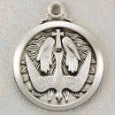 Solid Sterling Silver Holy Spirit Confirmation Medal
