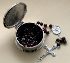 Confirmation Rosary and engraved box gift special