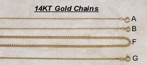 Solid 14KT Gold Chains