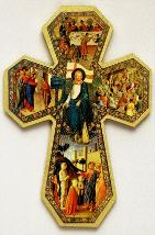 Florentine Style Cross of Miracles - decorative wall Cross