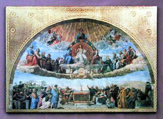 Disputation over the Eucharist by Raphael Florentine Religious Plaque