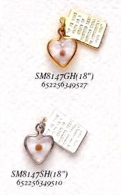 Image of Heart Shaped Mustard Seed Necklace & Charm