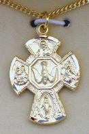 iage of Gold over Sterling Silver 5-Way Medal as confirmation gift