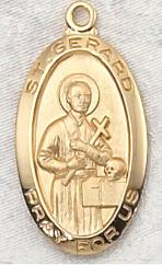 Gold over Sterling Silver St. Gerard medal