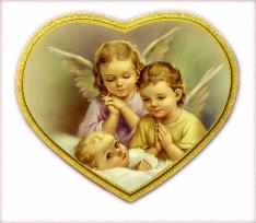 Guardian Angels over Infant Florentine Religious Plaque