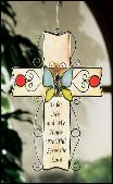 As for me and my house stained glass cross