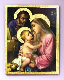 Holy Family by Simeone Florentine Religious Plaque
