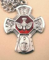 Image of Sterling Silver & Enamel 4-Way Medal