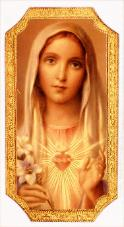 Immaculate Heart of Mary Florentine Plaque - Roman Catholic Art and Home Decor items Page