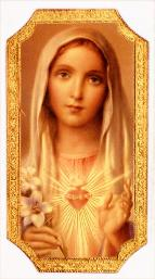 Immaculate Heart of Mary Florentine religious Plaque