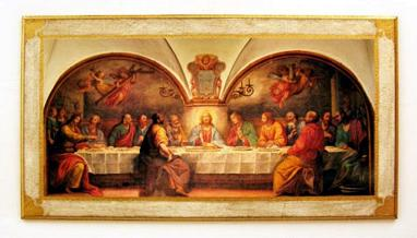 Last Supper by Rosselli Florentine Religious Plaque