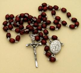 Image of Lourdes Water Rosary with Papal Crucifix for Man