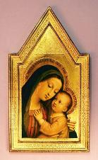 Our Lady of Good Counsel Florentine Plaque - Roman Catholic Art and Home Decor items page