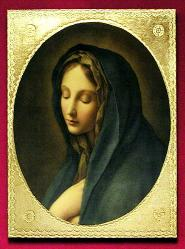 Our Lady of Sorrows by Dolci Florentine Religious Plaque