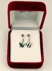 Rhodium Plated Dove Earrings