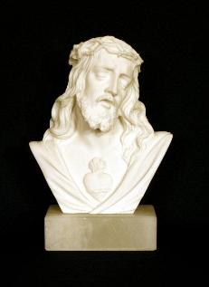 Sacred Heart of Jesus Bust Statue - Roman Catholic Art and Home Decor Page