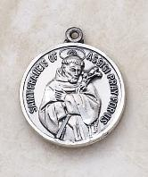 Sterling Silver St. Francis of Assisi patron saint medals