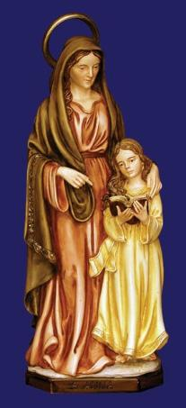 Statue of St. Ann with Mary