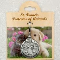 Pewter St. Francis Pet Medal dog or cat tag - engravable