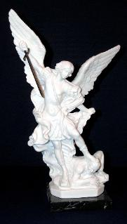 St. Michael Statue for sale on Marble base.
