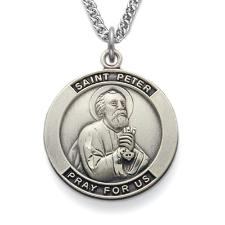 St. Peter Sterling Silver Patron Saint Medal