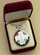 Image of Sterling Silver and Ename Military 4-way medal
