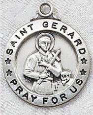 Sterling Silver St. Gerard Patron Saint Medal