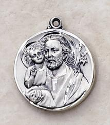 Sterling Silver St. Joseph Medal by Creed