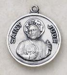 Sterling Silver St. Jude Medal by Creed, round