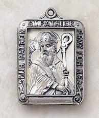 St patrick medal and pendant silver engraving patron saint sterling silver st patrick patron saint medal engravable back aloadofball Images
