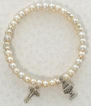 Five Decade Wrap First Communion Bracelet