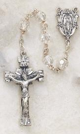 Image of Sterling Silver Clear Swarovski Crystal Rosary