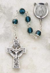 Image of Sterling Silver Emerald Swarovski Crystal Rosary by Creed
