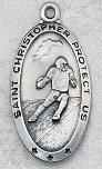 engravable Sterling Silver Saint Catholic Sports Medals